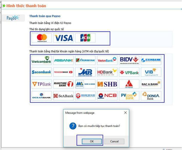 Hình 5: Chọn hình thức thanh toán